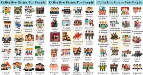 200+ Collective Nouns For People in English 47