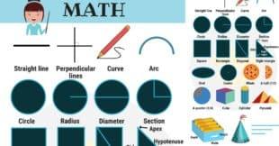 Math Vocabulary in English   Mathematics Vocabulary Words