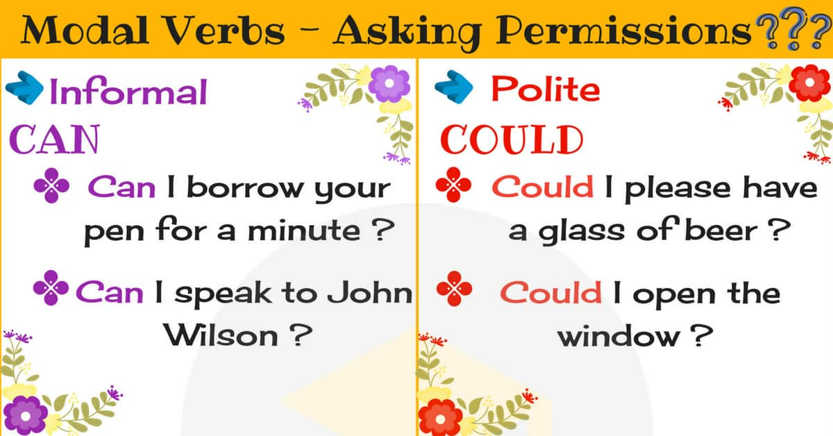 Modals for Asking Permissions | Modal Verbs 1