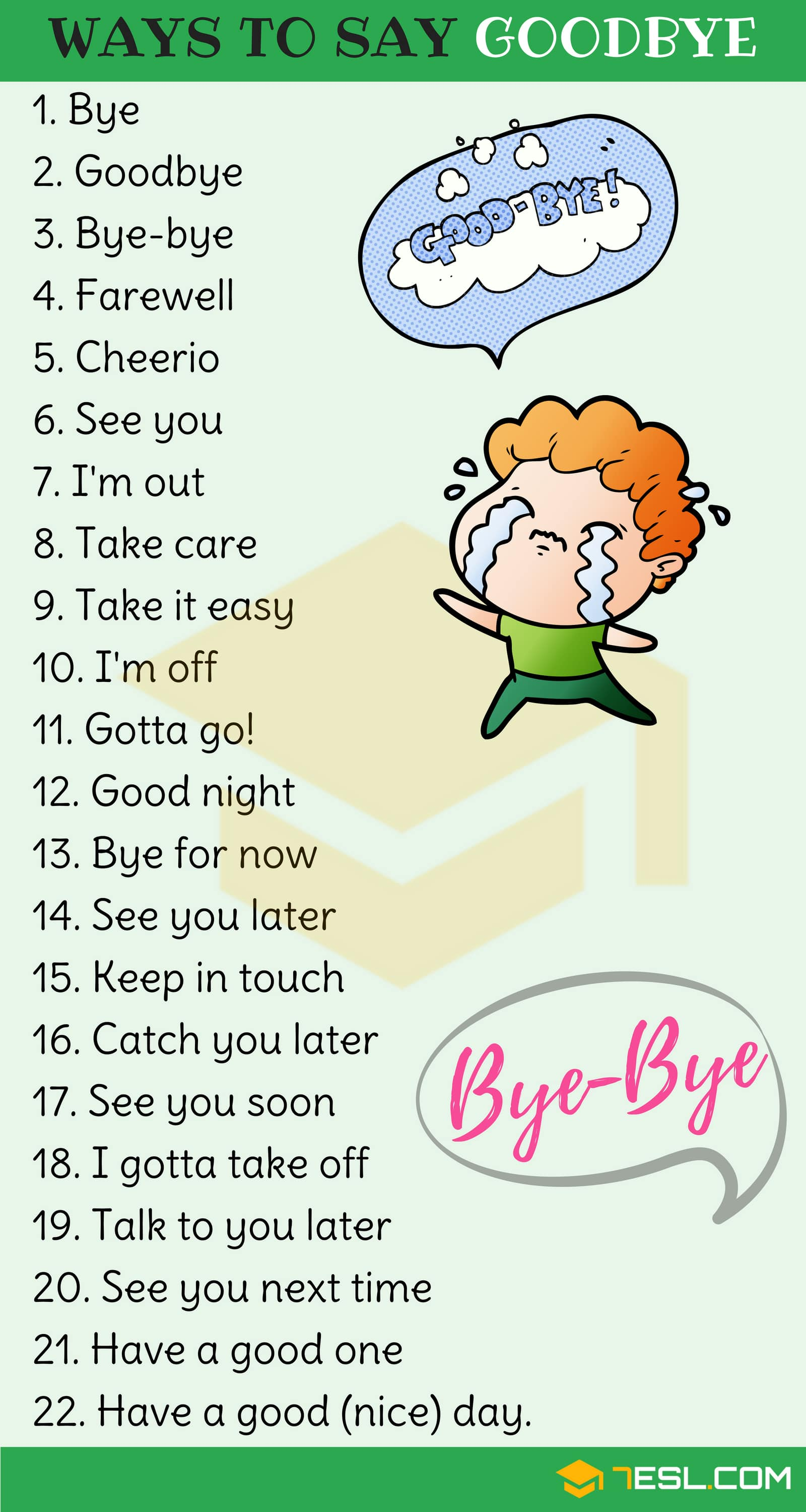 23 Ways to Say Goodbye in English | Goodbye Synonyms