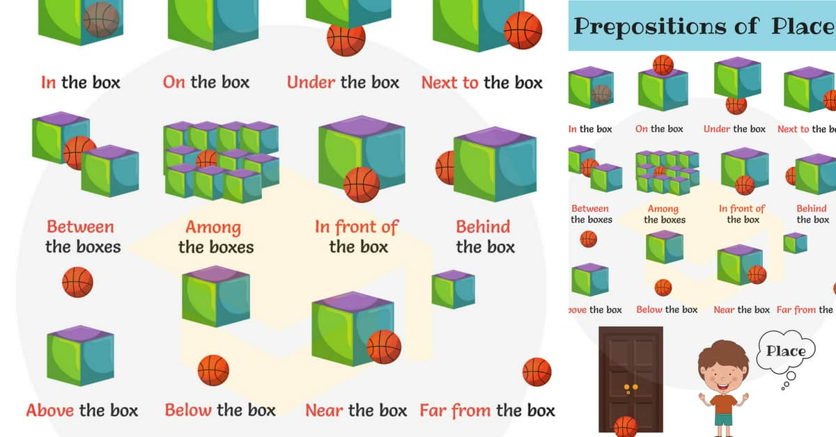 Learn Prepositions of Position and Place with Pictures 1