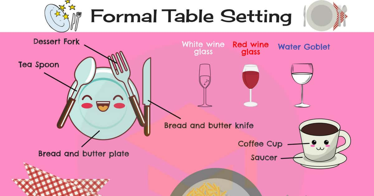 Formal Table Setting | Table Setting Vocabulary with Pictures  sc 1 st  7 ESL : formal table setting pictures - pezcame.com