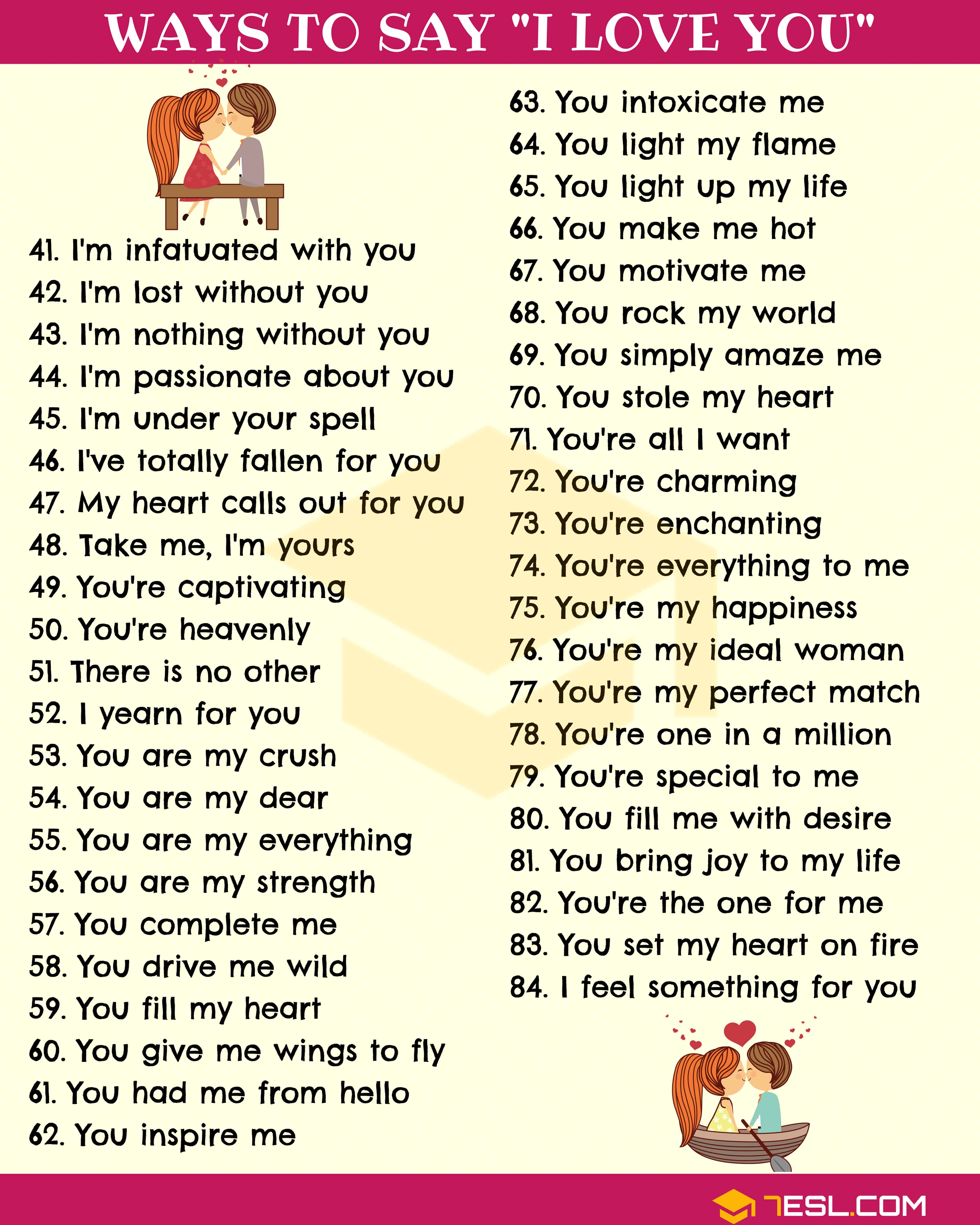 Love Messages: 123 Cute Ways To Say I LOVE YOU 3