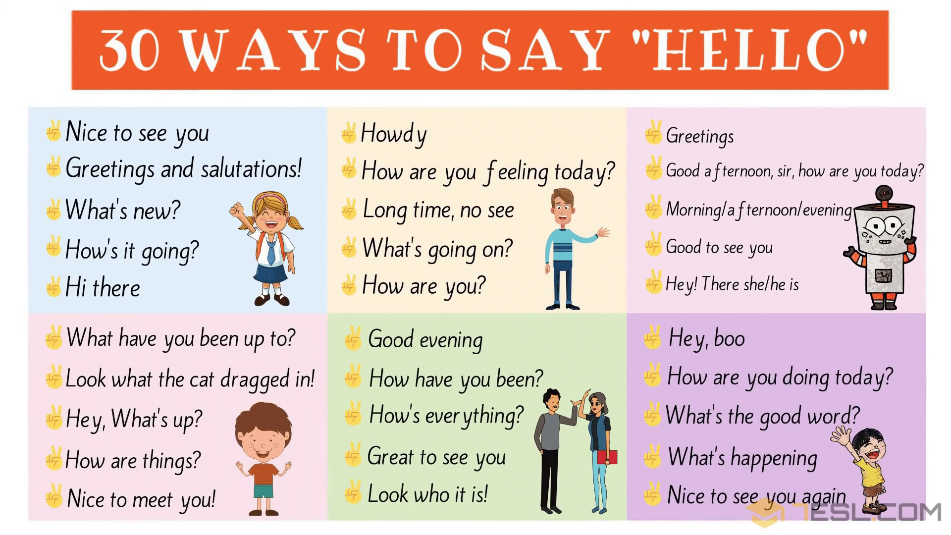 "30 Ways to Say ""Hello"" in English 