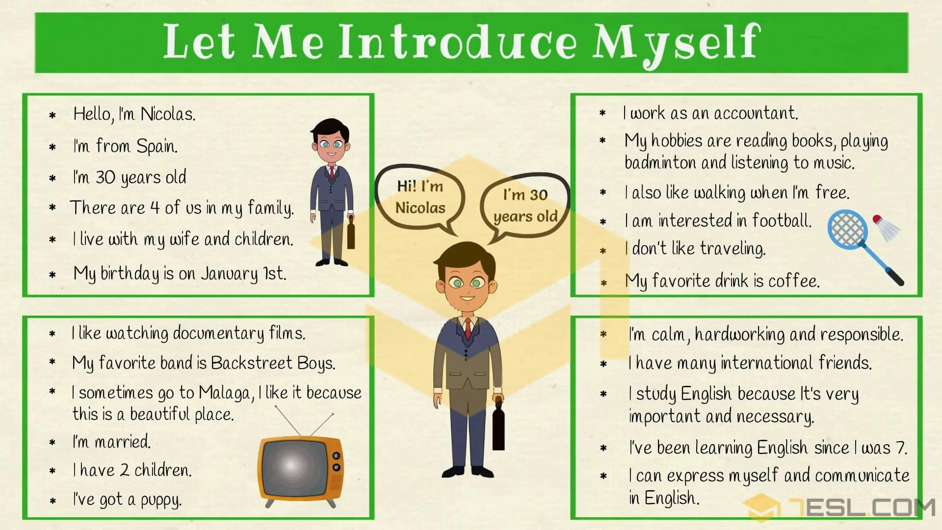 How to Introduce Yourself in English | Self Introduction - 7