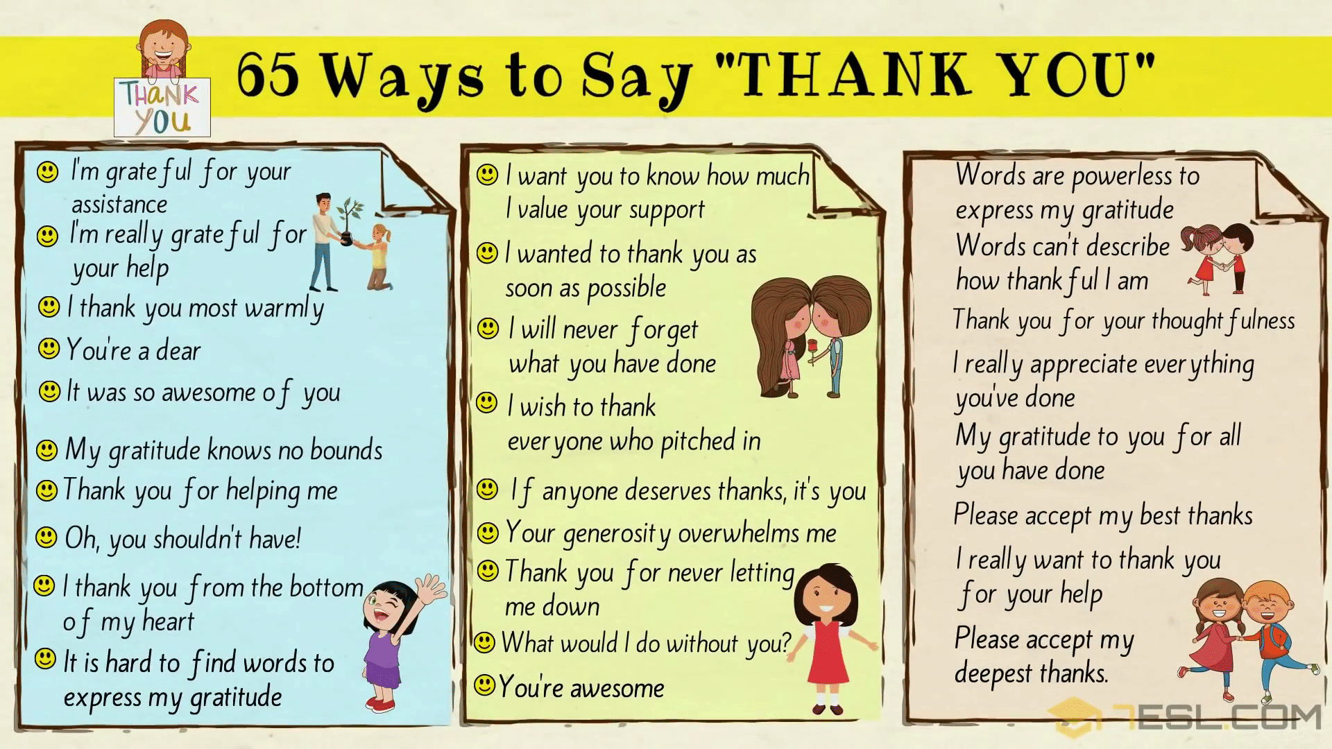 Thank You Synonym: 65 Ways to Say THANK YOU
