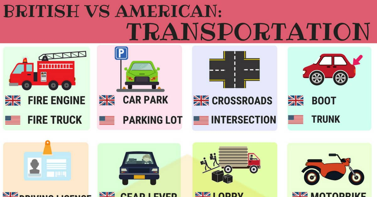 British vs American English: Transport Vocabulary 3