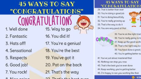 45 Ways to Say Congratulations in English 5