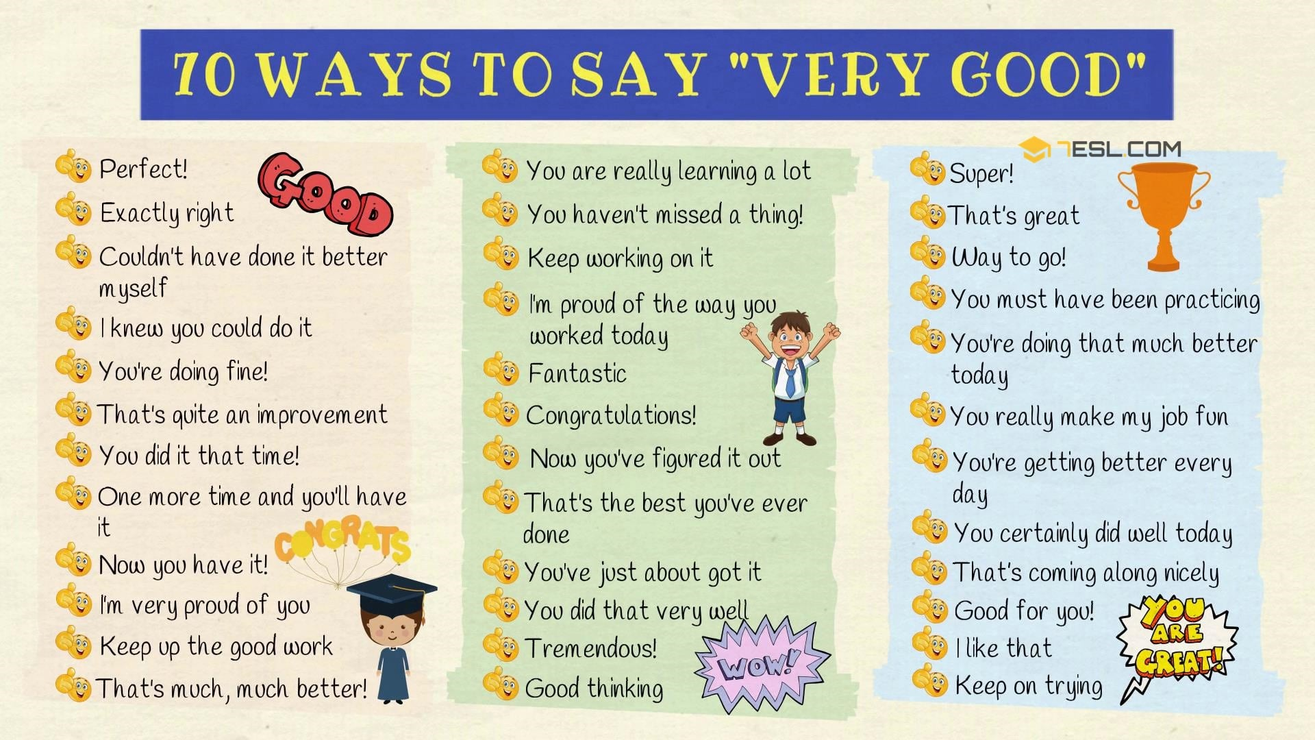 Very Good Synonym: 70+ Ways to Say VERY GOOD in English