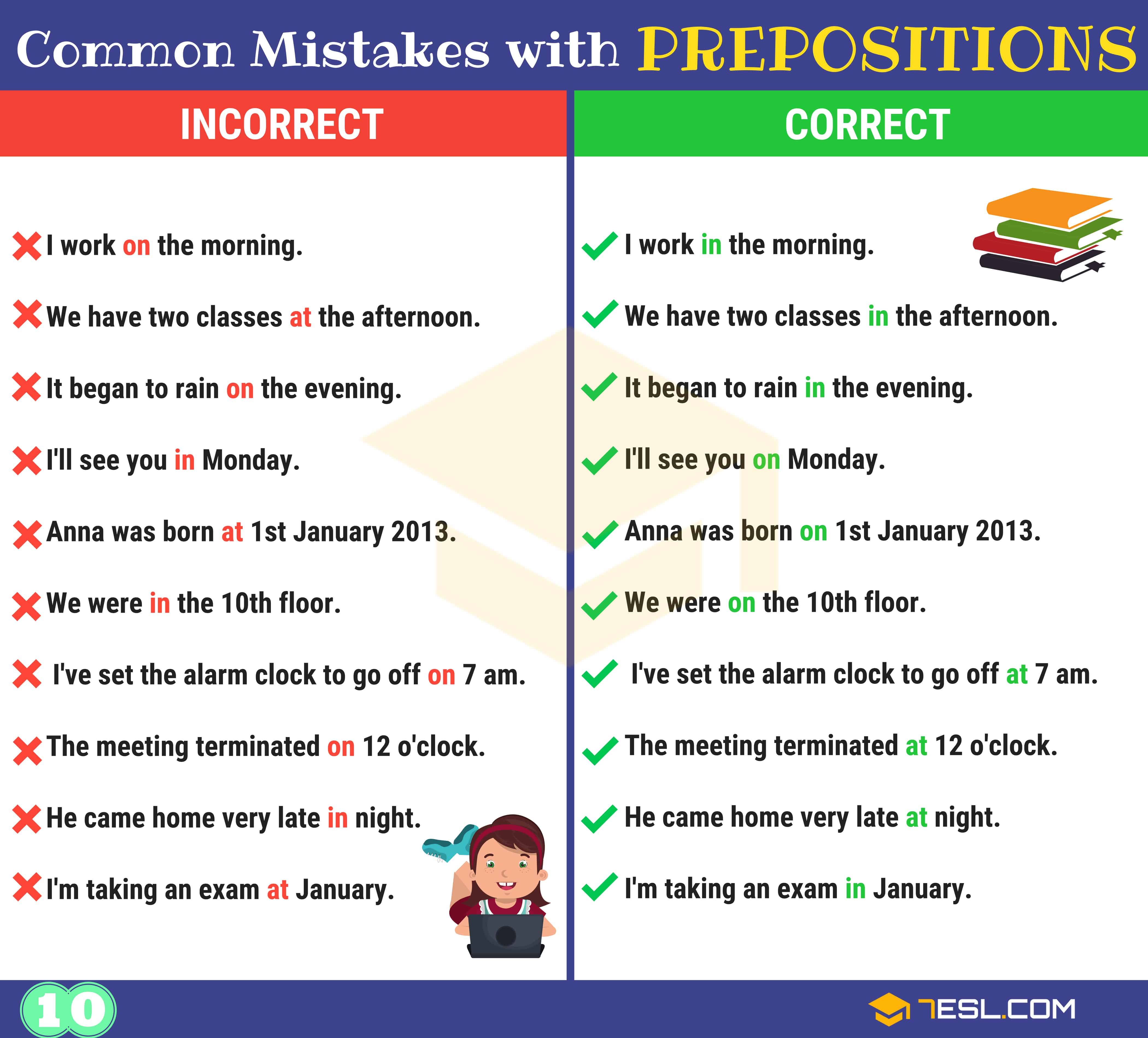 130+ Common MISTAKES With PREPOSITIONS And How To Avoid Them 11