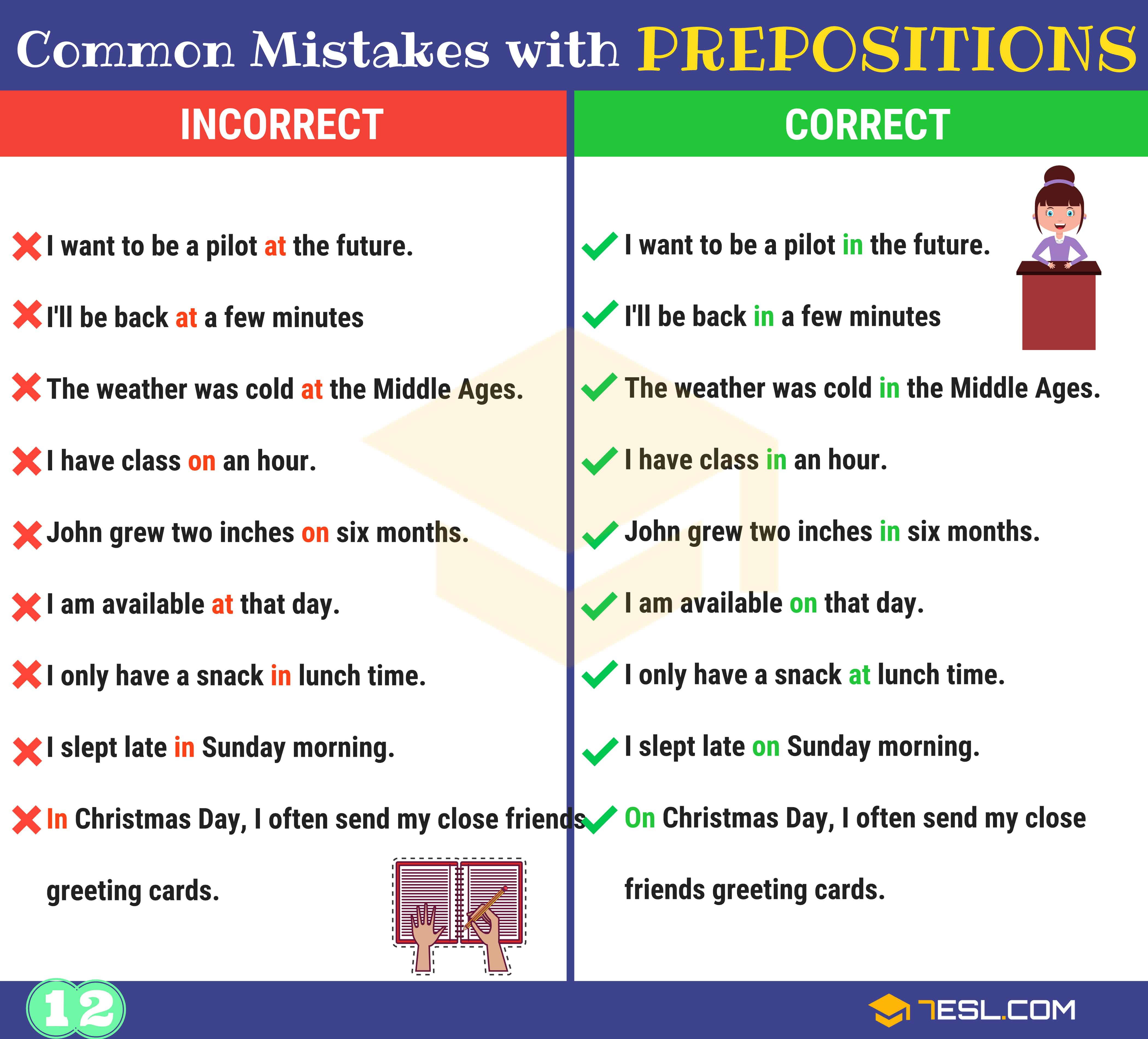 130+ Common MISTAKES With PREPOSITIONS And How To Avoid Them 13
