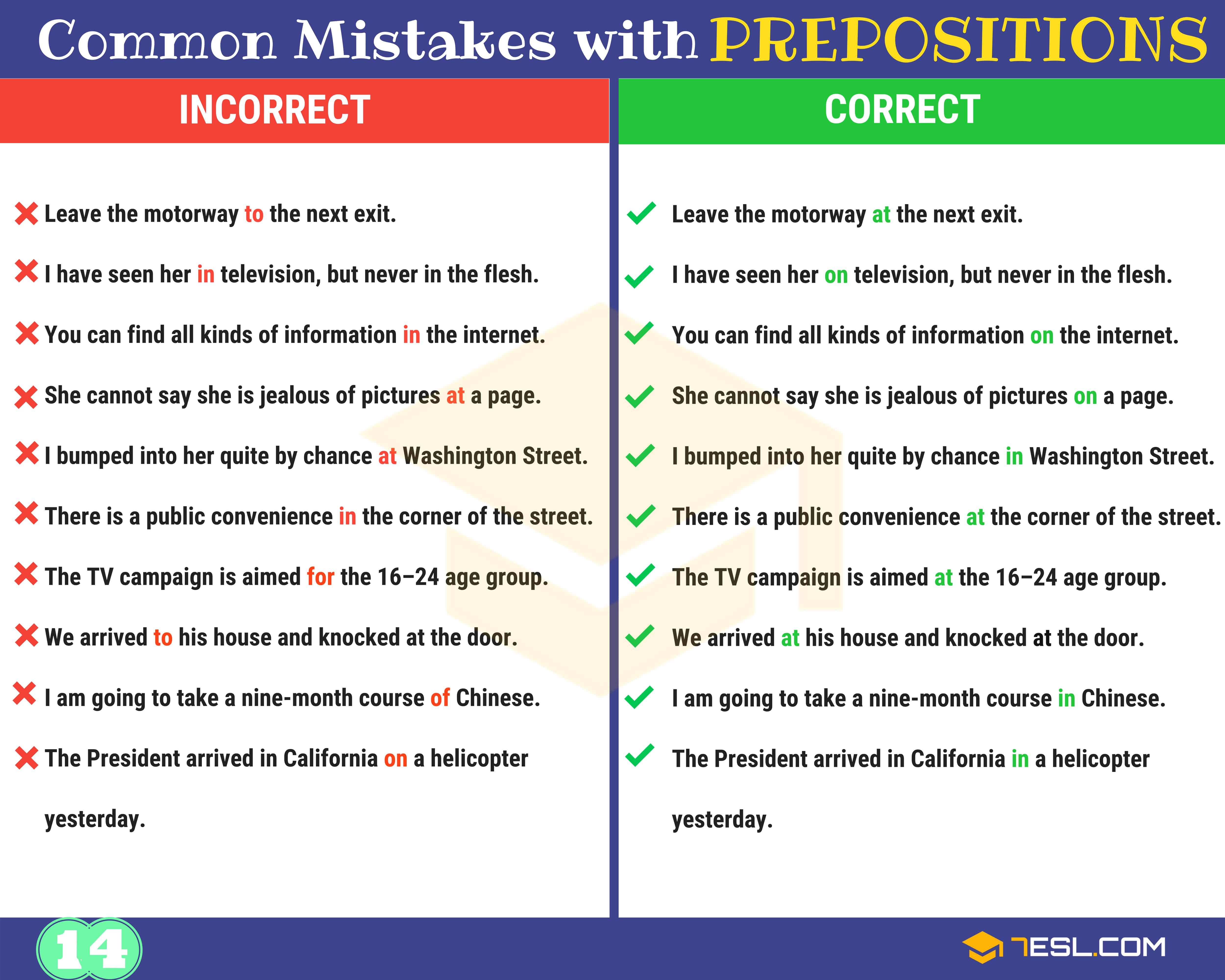 130+ Common MISTAKES With PREPOSITIONS And How To Avoid Them 15