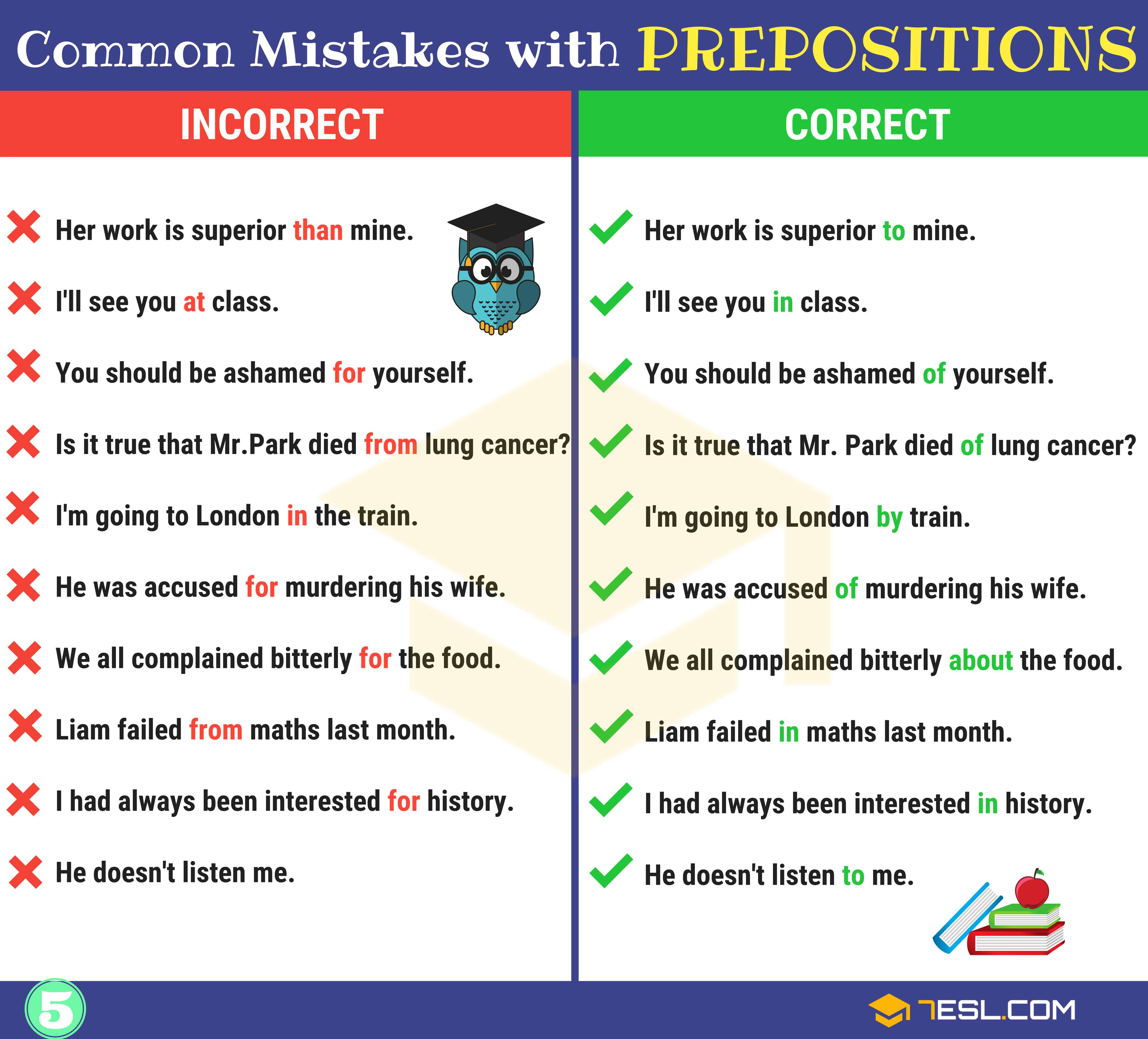 130+ Common MISTAKES With PREPOSITIONS And How To Avoid Them 6