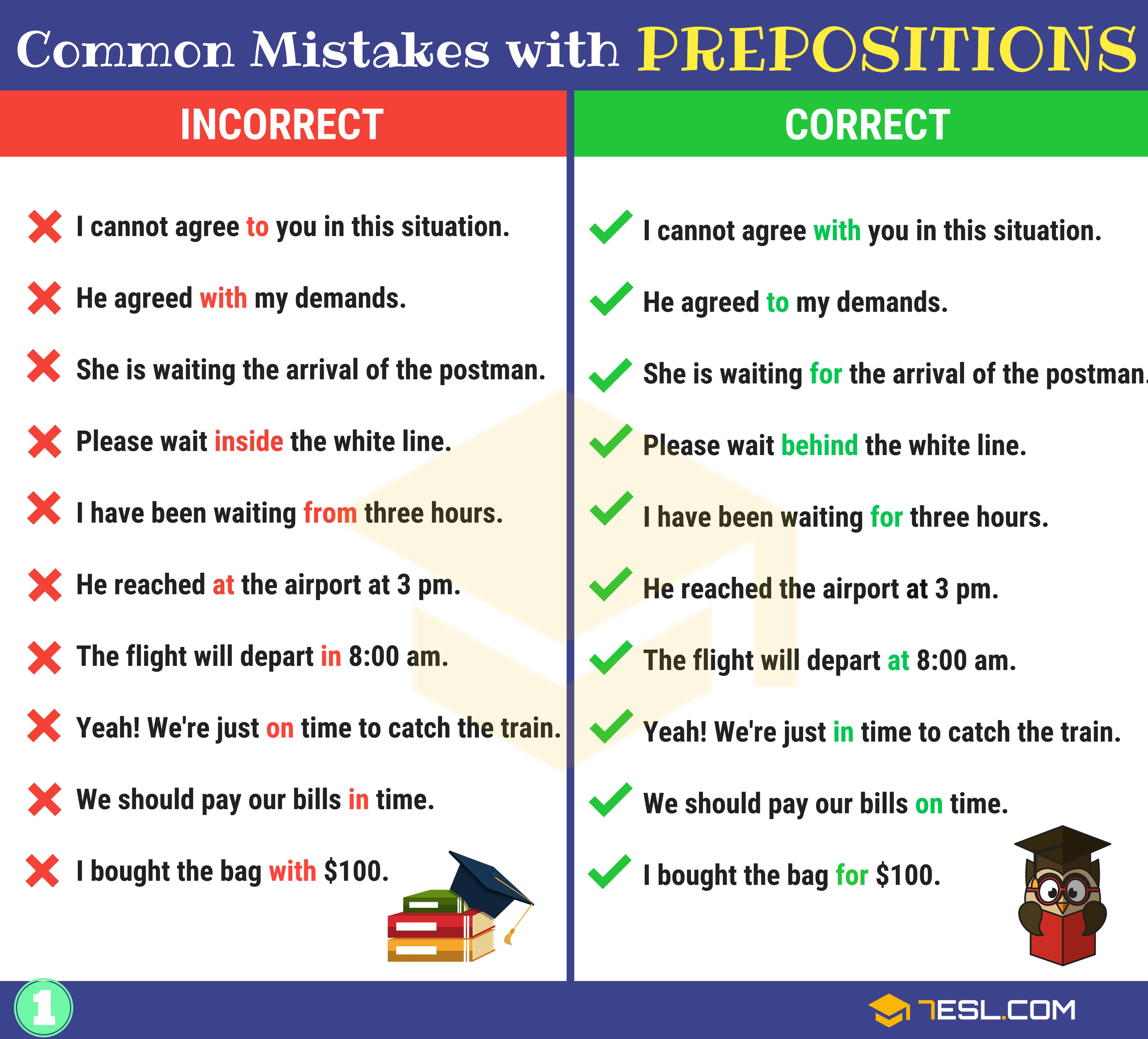 130+ Common MISTAKES With PREPOSITIONS And How To Avoid Them 2