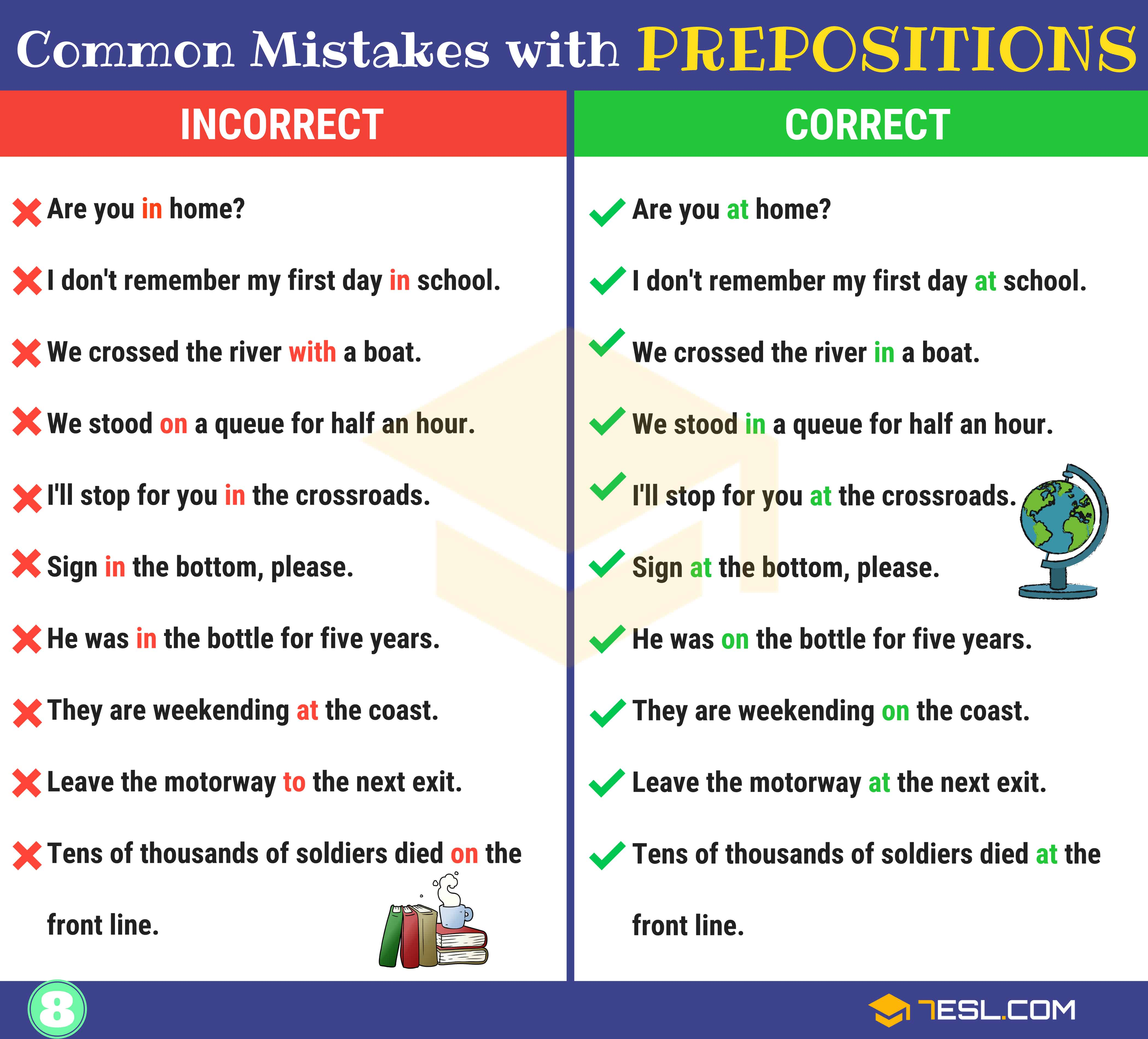 130+ Common MISTAKES With PREPOSITIONS And How To Avoid Them 9