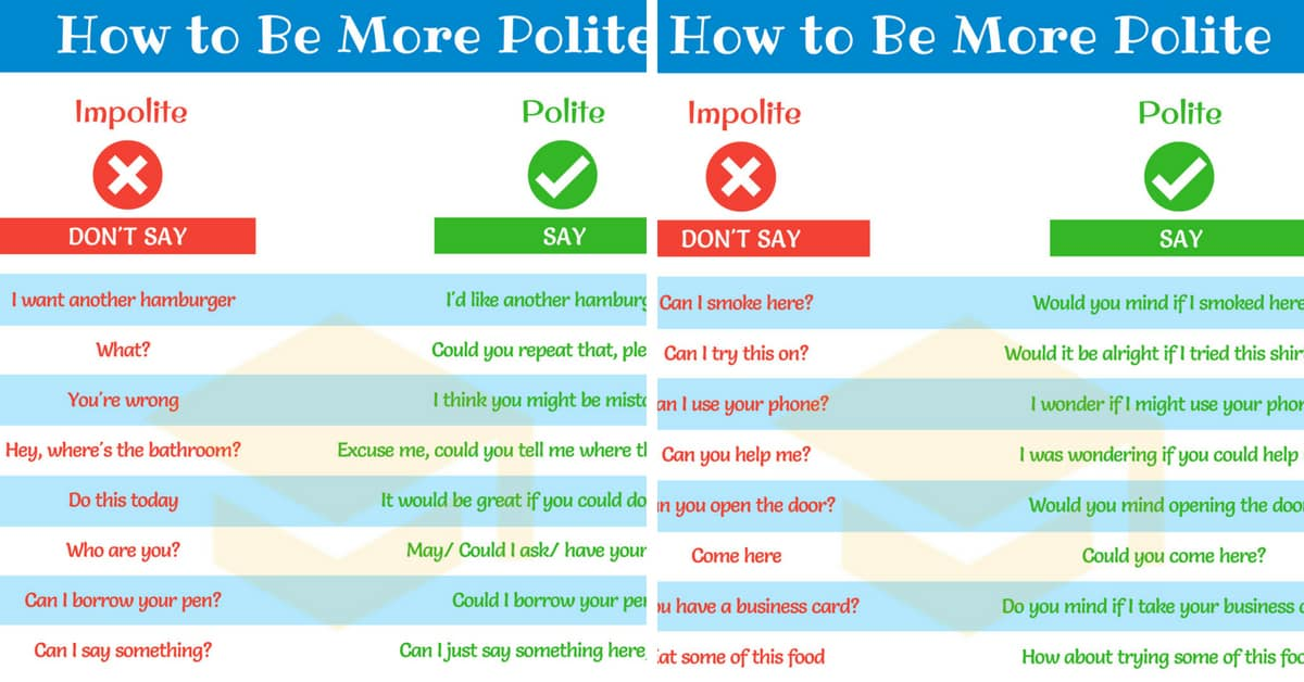 How to Be Polite: Useful Phrases for Speaking Polite English 1