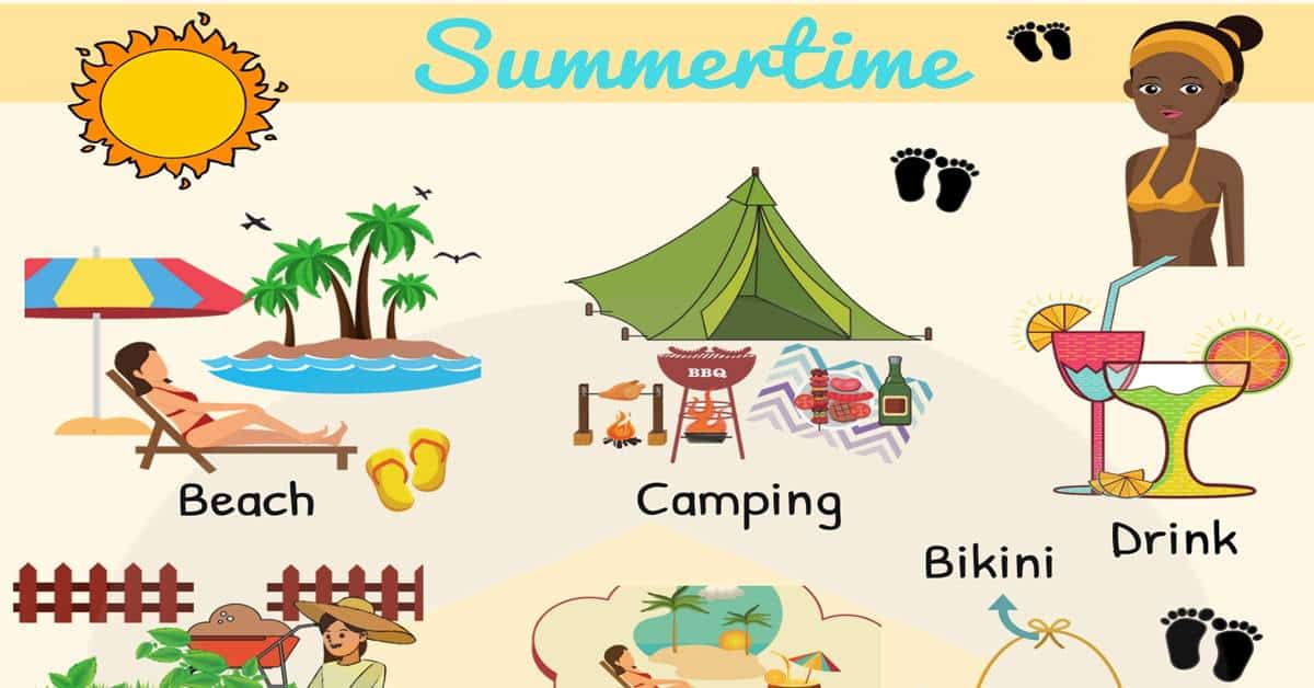 Summer Words in English | Summer Vocabulary with Pictures 1