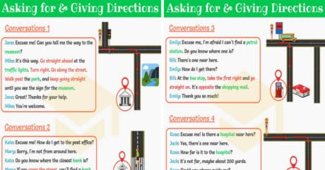 Asking for and Giving Directions | English Conversations 10
