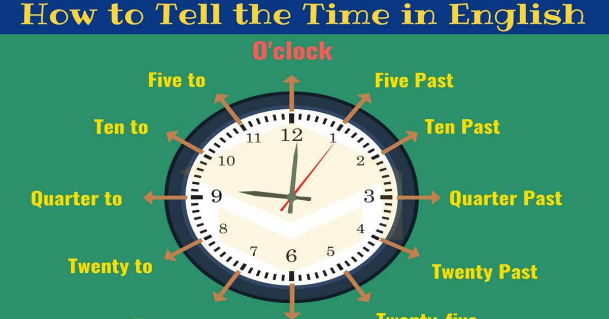Learn How to Tell the TIME Properly in English 1