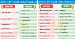 200+ Answers to Common English Questions