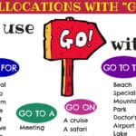 How to Use the Verb GO: Go To, Go For, Go On...