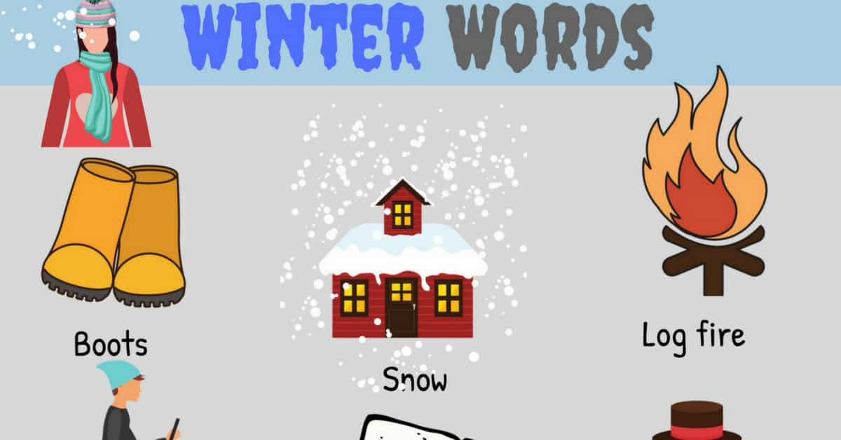 Winter Words: Useful Winter Vocabulary with Pictures 1