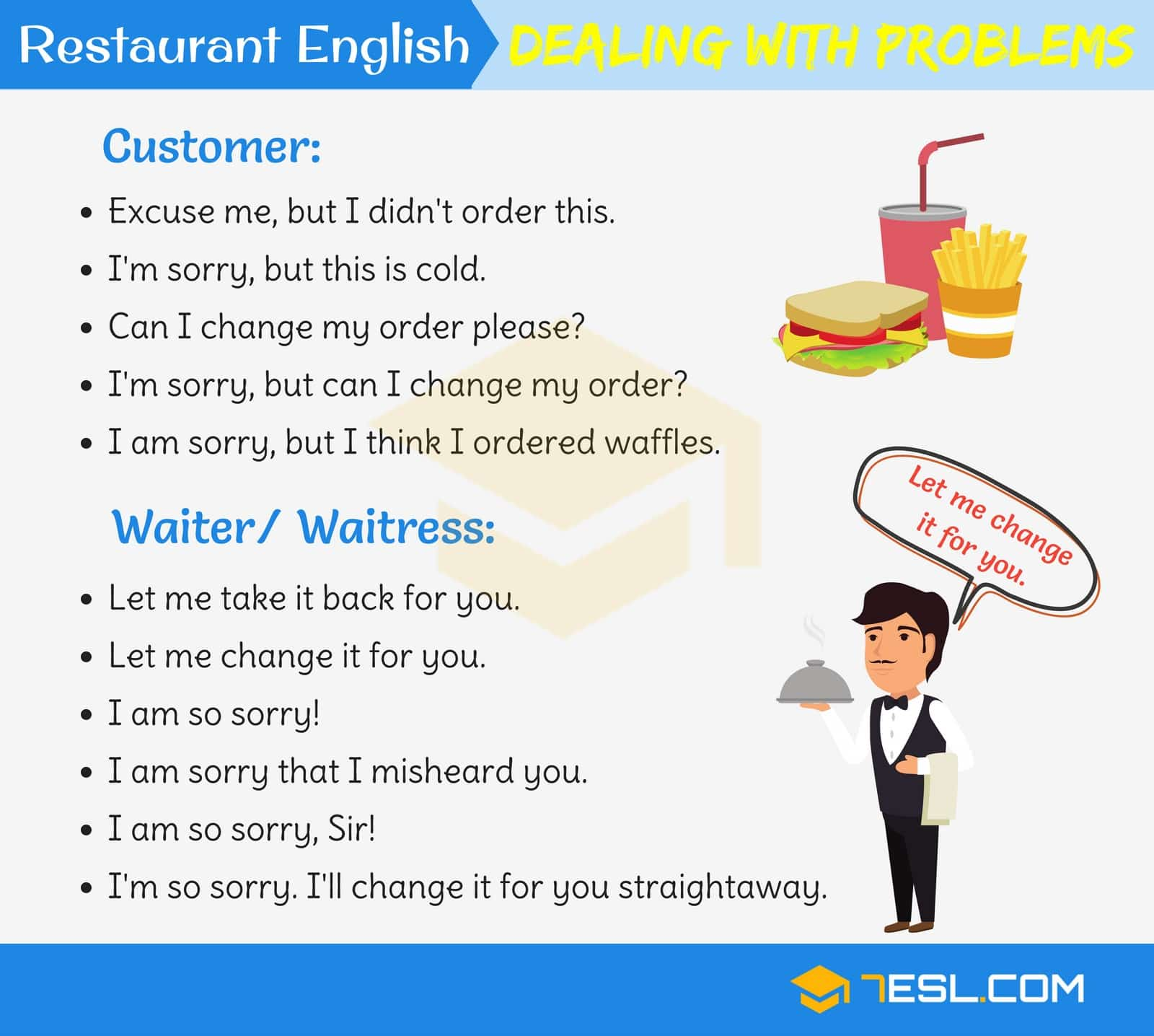 Restaurant English: Useful Expressions Used at a Restaurant 5