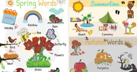 Seasons Vocabulary: Learn English Words for Seasons 120