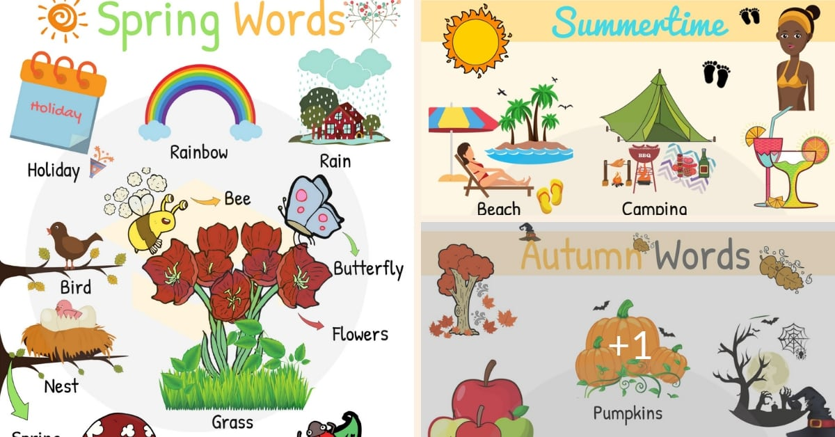Seasons List: Useful Seasons Vocabulary Words with Pictures 1