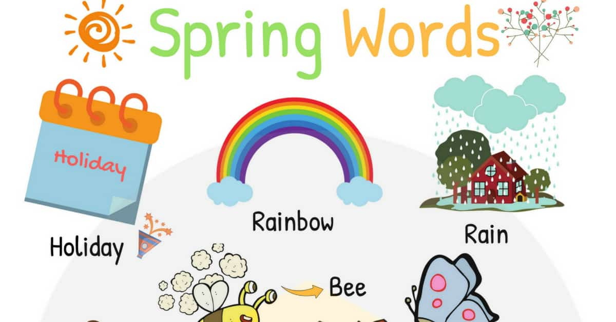 Spring Words: Learn Spring Vocabulary with Pictures 1