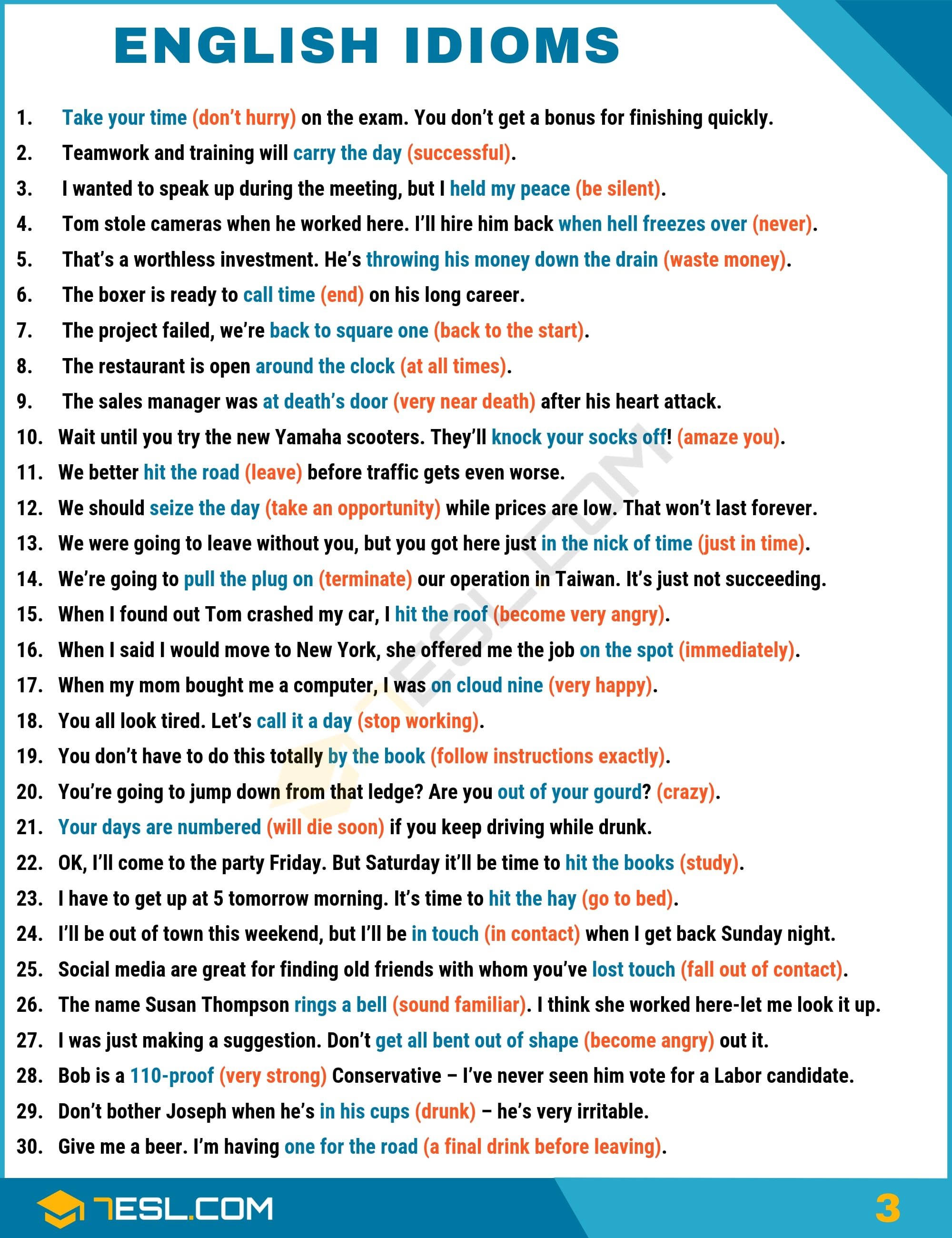 English Idioms Examples with Idiom Meaning | Image 3