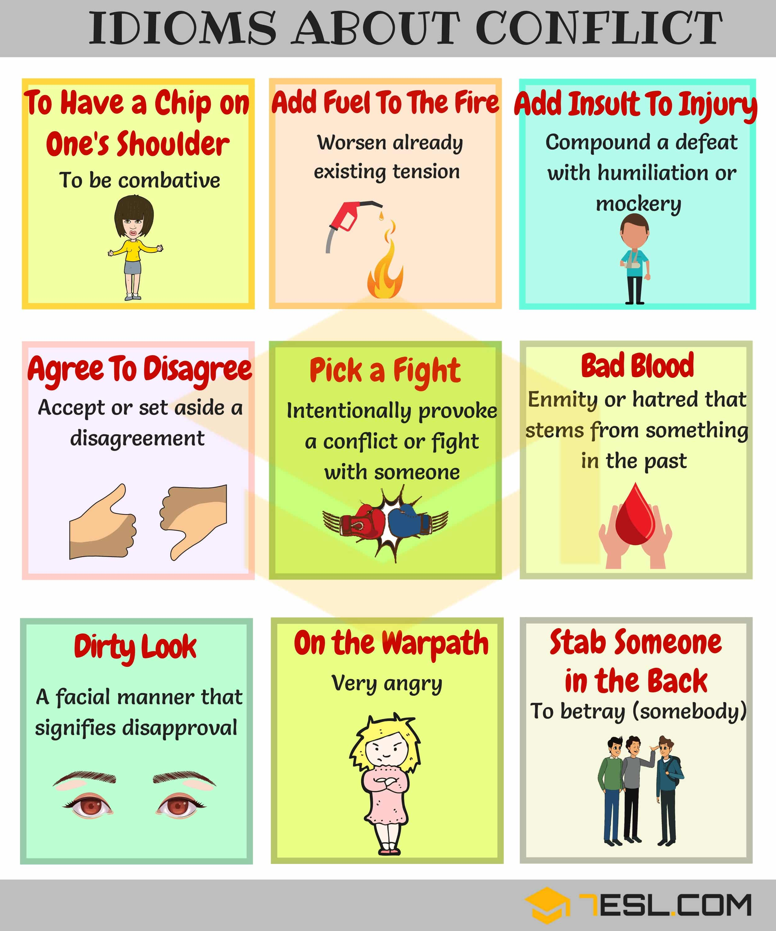 2000+ Common English Idioms and Their Meanings 11