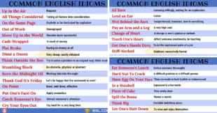 2000+ Common English Idioms and Their Meanings
