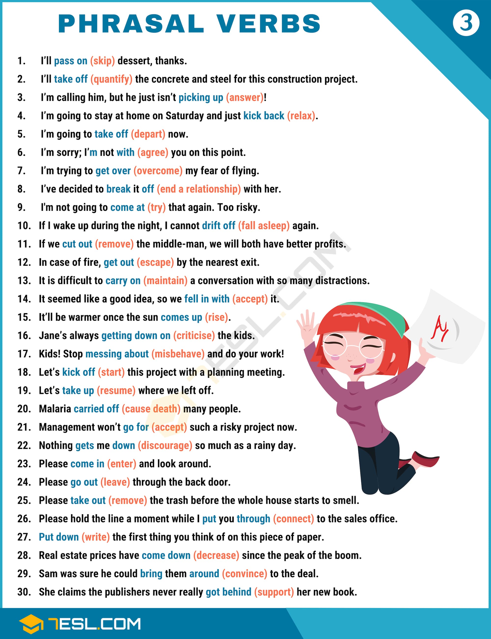 Useful Phrasal Verbs List with Example Sentences | Image 3