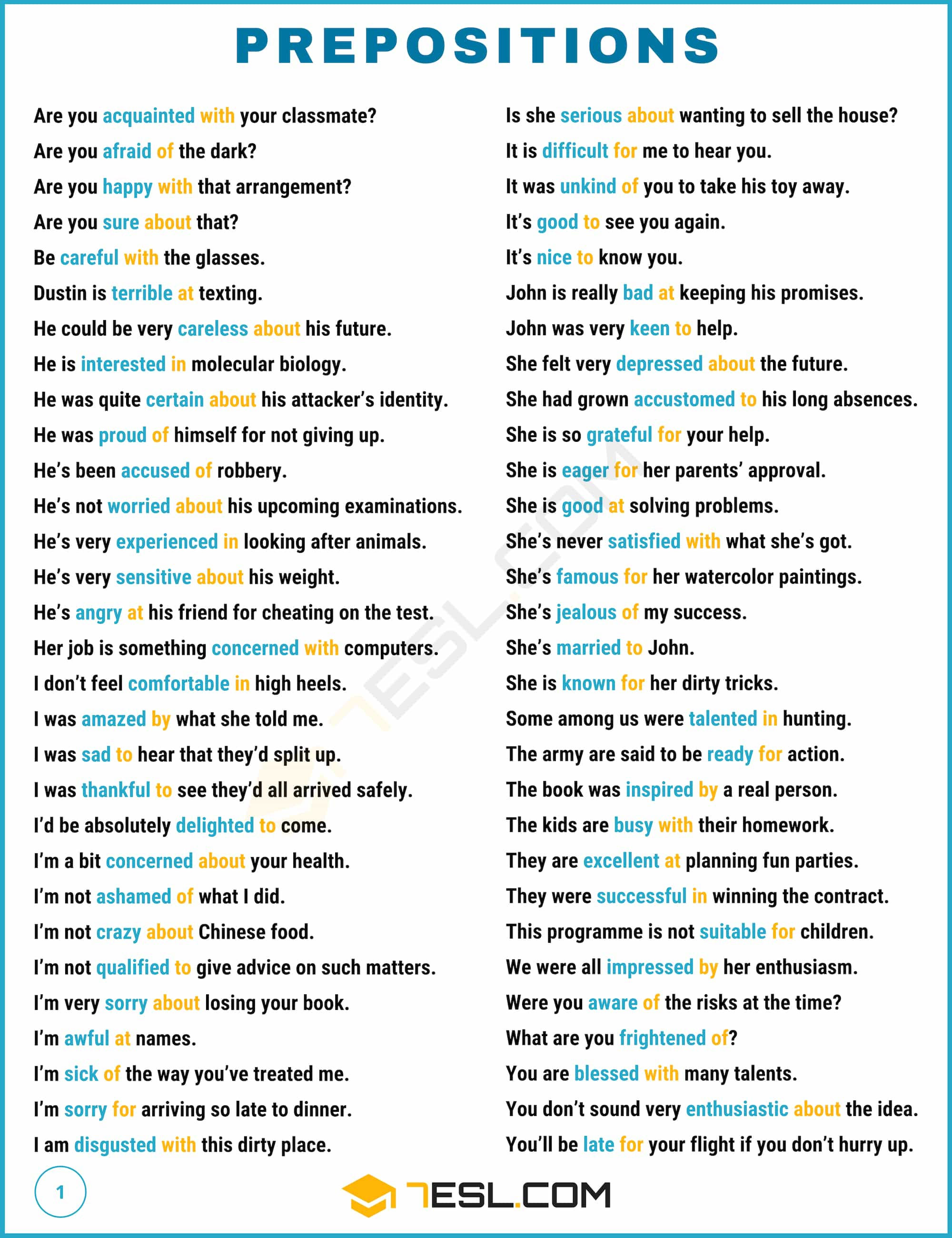photo about List of Prepositions Printable titled Prepositions: What Is A Preposition? Insightful Listing Illustrations