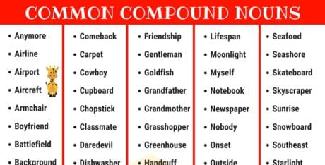 Compound Nouns: 110+ Common Compound Nouns in English 8