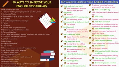 50 Simple Tips to Improve Your English Vocabulary 1
