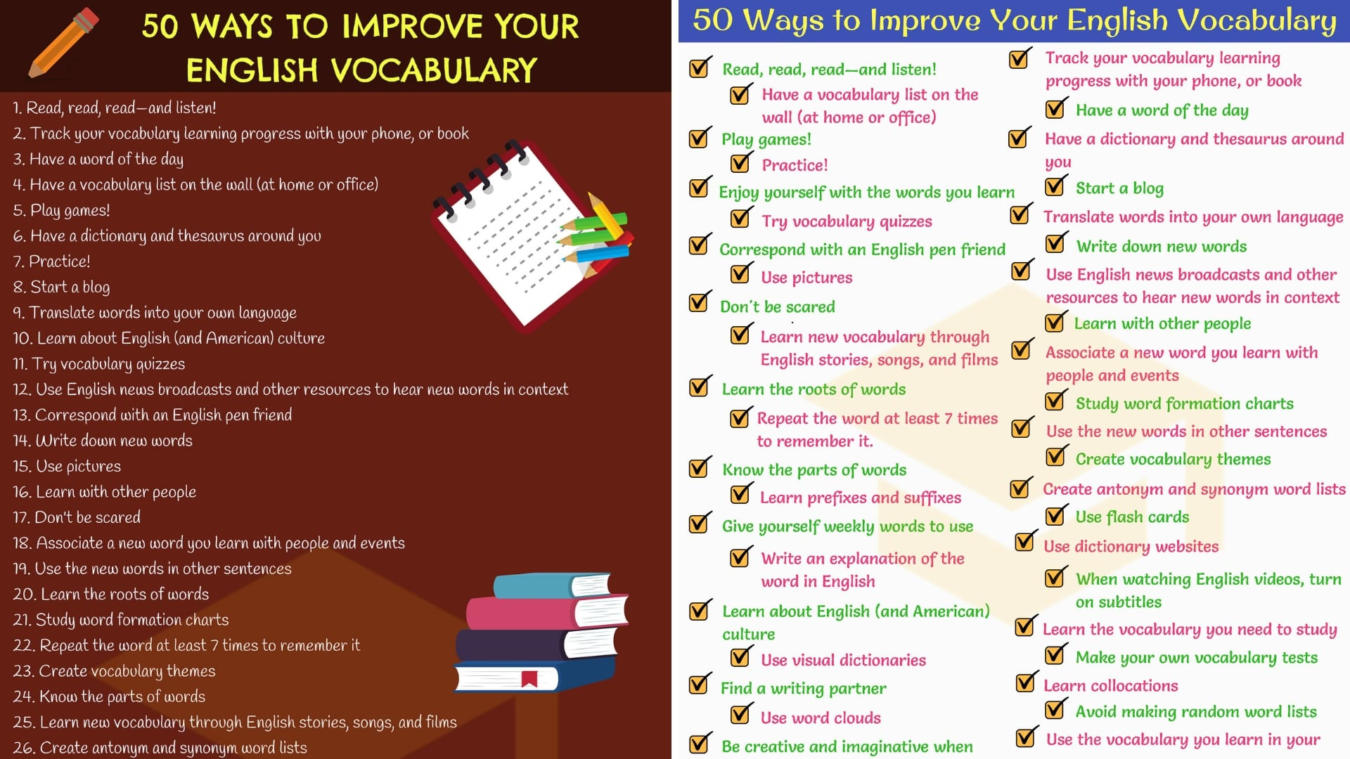 How to Improve Vocabulary: 50 Simple Tips!! 1