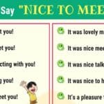 "23 Ways to Say ""NICE TO MEET YOU"" in English"