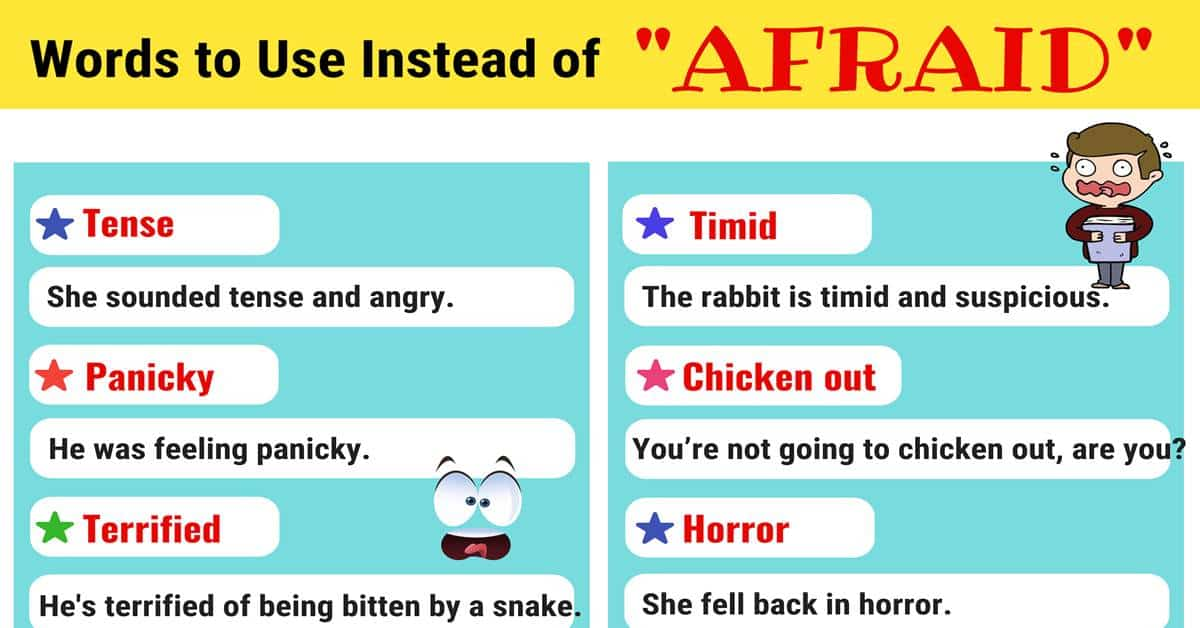"""Another Word for """"Afraid"""" 