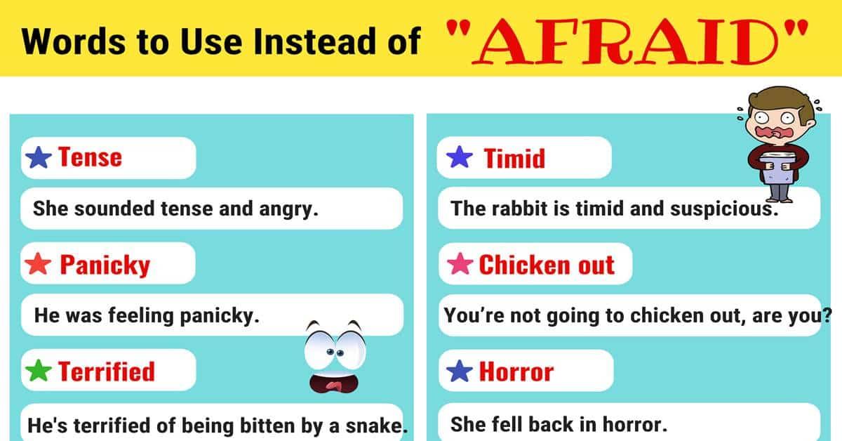 AFRAID Synonyms: List of 100 Synonyms for AFRAID 1
