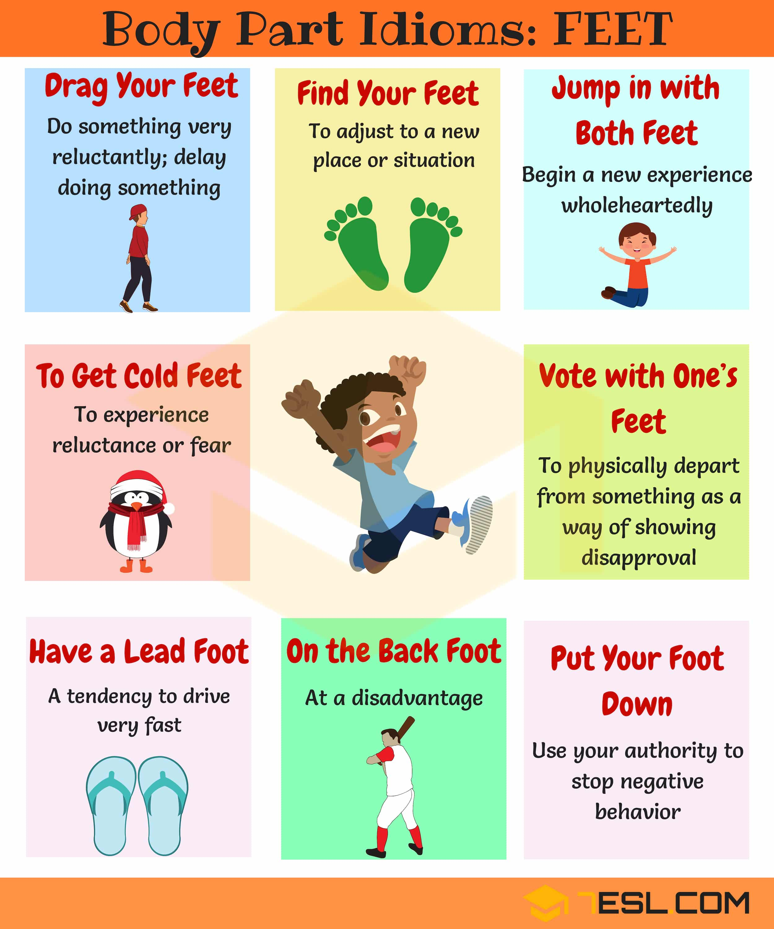 FOOT Idioms: Useful Phrases & Idioms with FEET in English