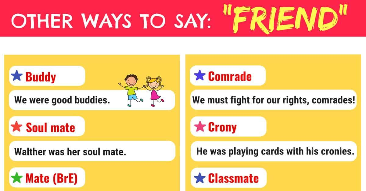 FRIEND Synonyms: 35+ Useful Synonyms for Friend in English 1