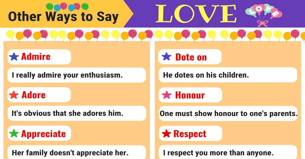 LOVE Synonyms: 11 Synonyms for LOVE in English 14