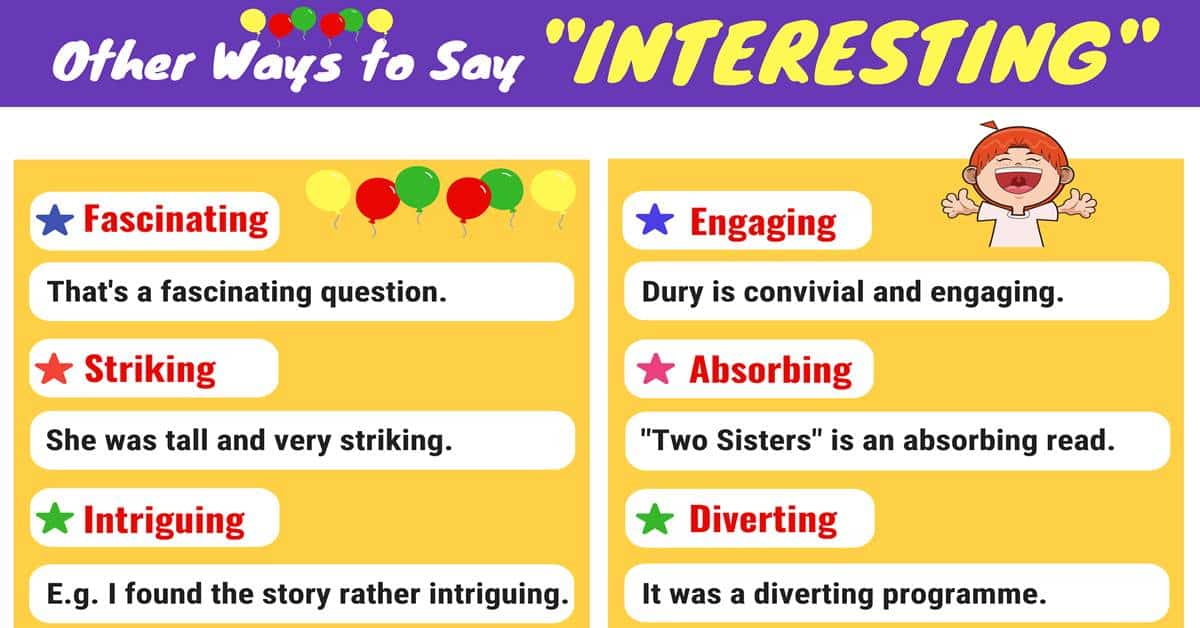 "Another Word for ""Interesting"" 