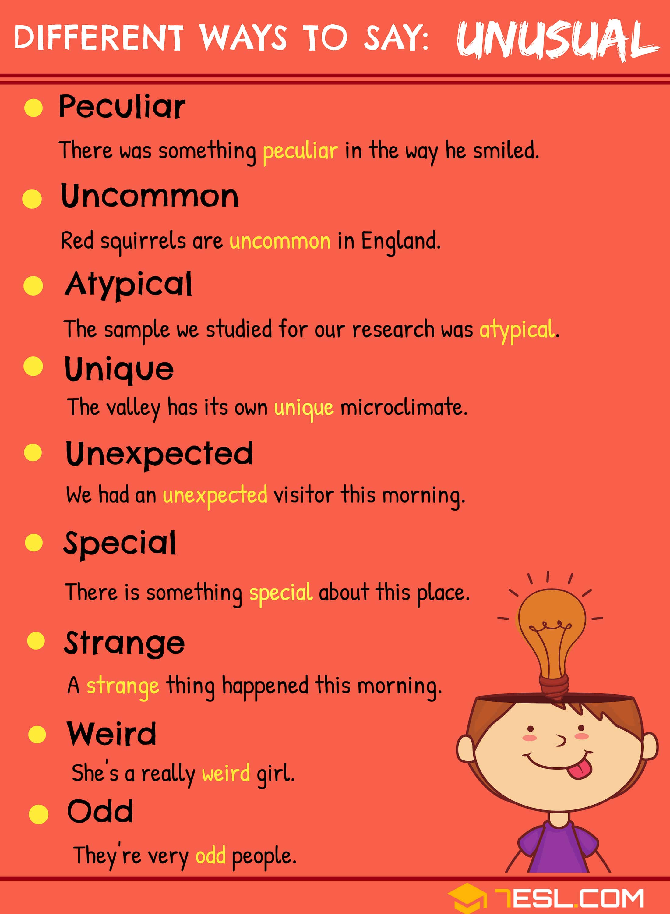 UNUSUAL Synonyms: 10+ Synonyms for Unusual in English