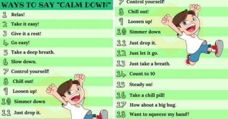 25+ Ways To Say CALM DOWN In English 15