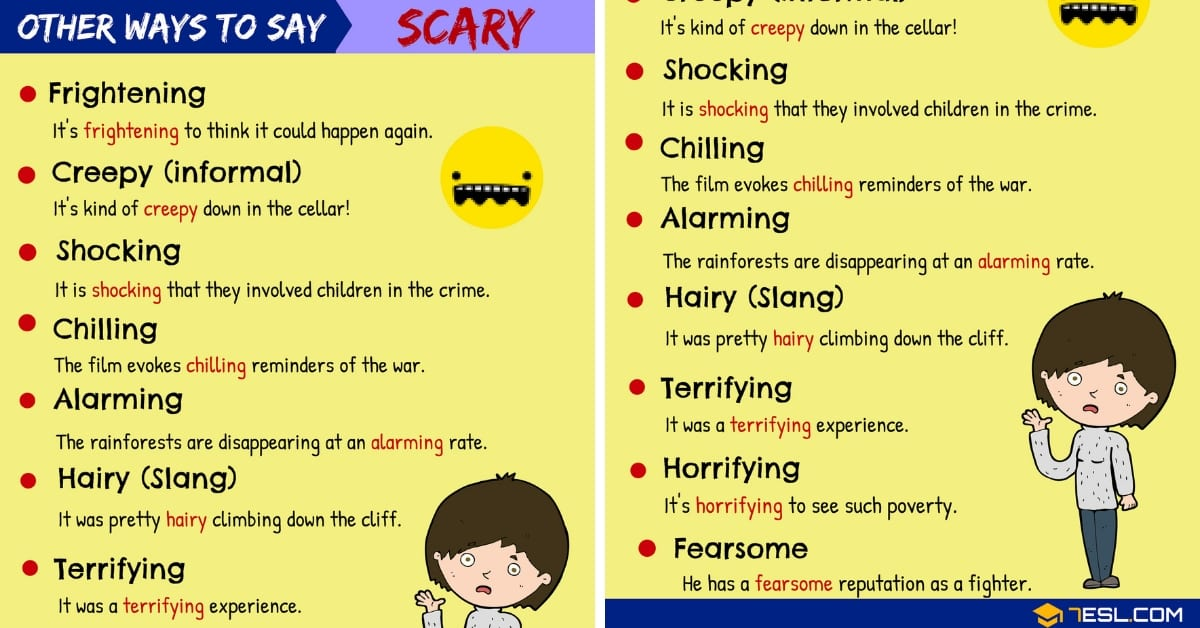 SCARY Synonyms: 15+ Synonyms for SCARY in English 1