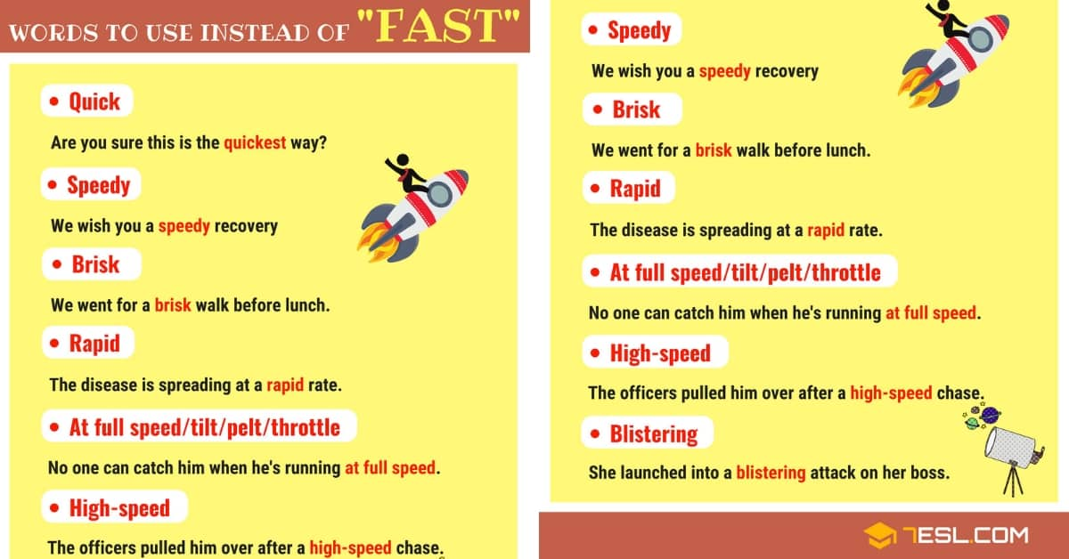 FAST Synonyms: List of 9 Synonyms for Fast 1