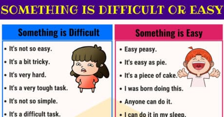 Other Ways to Say Something is EASY or DIFFICULT 2
